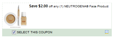 $2.00/1 Neutrogena Face Product Coupon