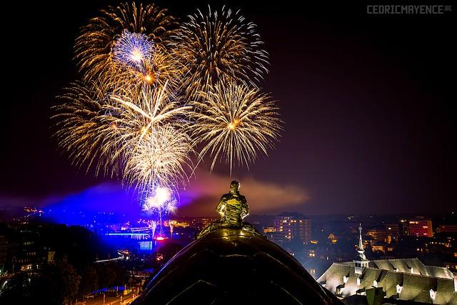 Feux d'artifice du 20 juillet 2016 à la Citadelle de Namur (BE)