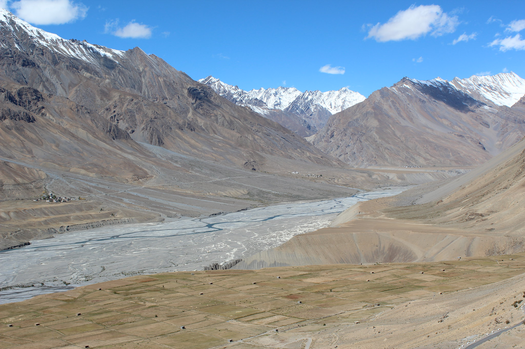 Spiti Valley from Kye Monastery