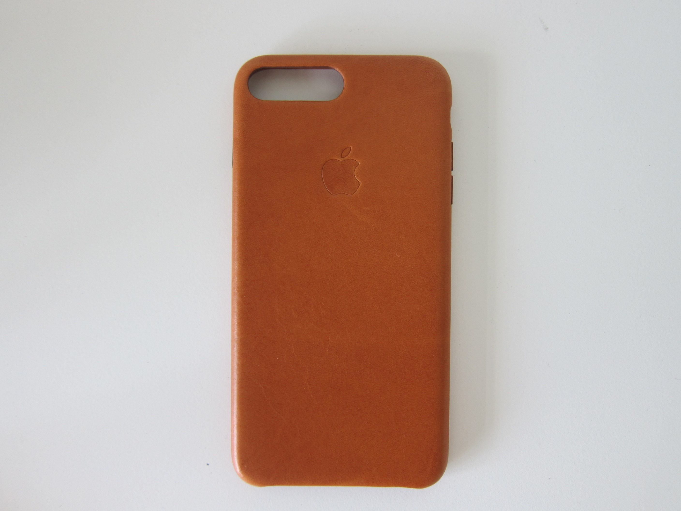 f08e53561471b Apple iPhone 7 Plus Leather Case (Saddle Brown) - Back