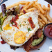 Hangover Remedy - smashed avocado, bacon sundried tomatoes, fried egg, ciabatta bread
