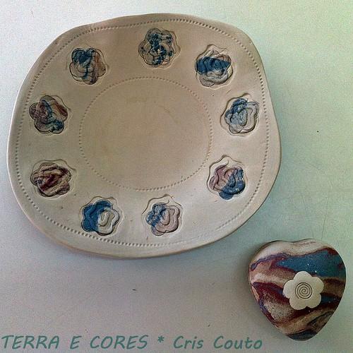 Pratinho com detalhes marmorizados- modelagem by cris couto 73