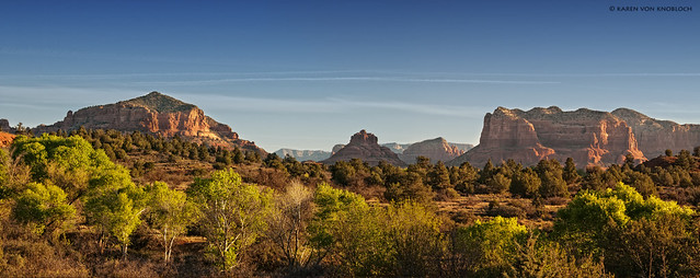Approaching Sedona Panorama