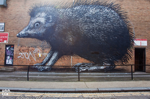 ROA's Shoreditch Hedgehog Street Art Mural