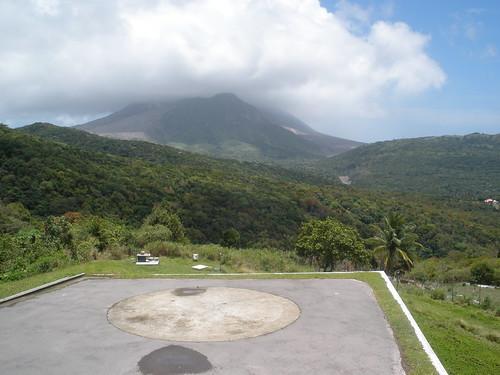 volcano montserrat helipad mvo
