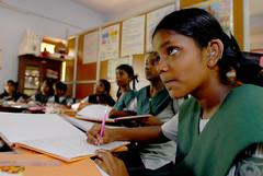Girls in school in Chennai, India