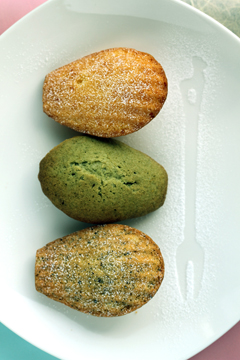 madeleines (orange, green tea, earl gray) recipe