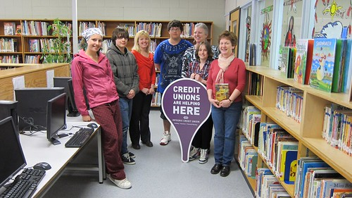 Integris Credit Union Adopt-a-Library Presentation at Voyageur Elementary