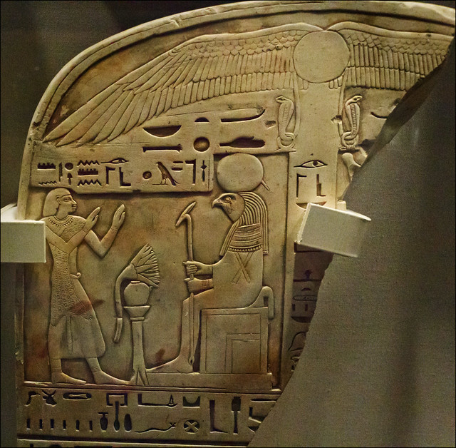 Egyptian stone carved with hieroglyphs flickr photo