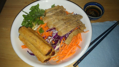 Homemade bun thit nuong cha gio by christopher575