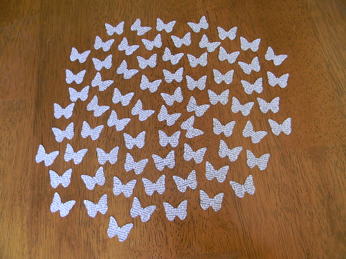 Dictionary Page Butterflies