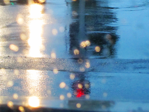 Abstract Street Reflections during the Rain