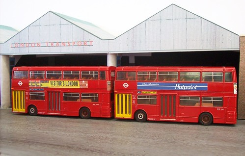 Walthamstow bus garage in 1/76 scale