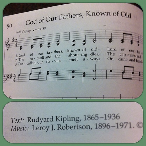 Author of the jungle book wrote a hymn?  Learn something new every day.