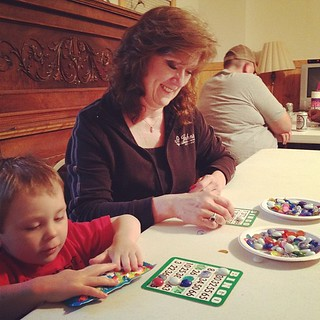 Candy bar bingo with Grandma. #latergram