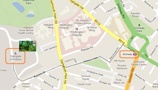 Ruta desde la estación de underground de Archway hasta el Cementerio de Highgate highgate cemetery - 7297137972 3a89268579 o - Highgate Cemetery de Londres, donde a la muerte se le llama arte