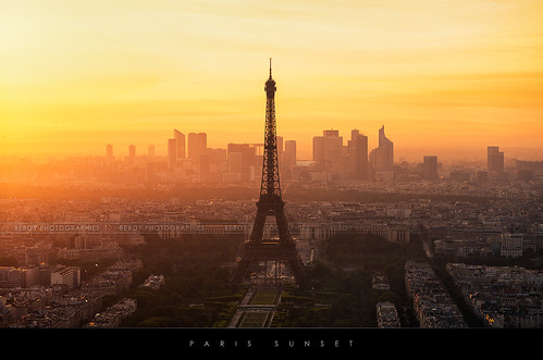 Paris sunset (no hdr)