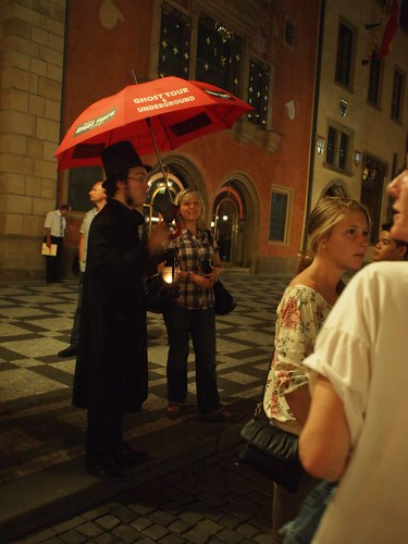 Tour guide for the ghost tour.
