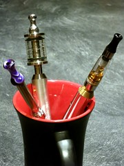 Cup of electronic cigarettes