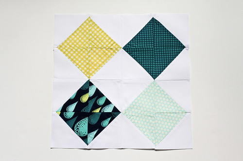 Half-Square Triangle Block of the Month June Quilt Block Tutorial - In Color Order