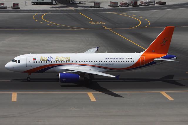 Nasair Eritrea A320 E7-SKA Dubai DXB