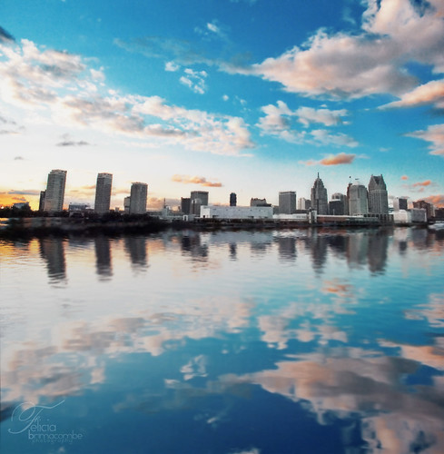 city travel sky urban usa ontario canada color reflection water beautiful skyline architecture america buildings felicia landscape mirror cool nikon pretty cityscape united detroit architectural clear explore states tones brimacombe windsorontario explored d3000 instagramapp