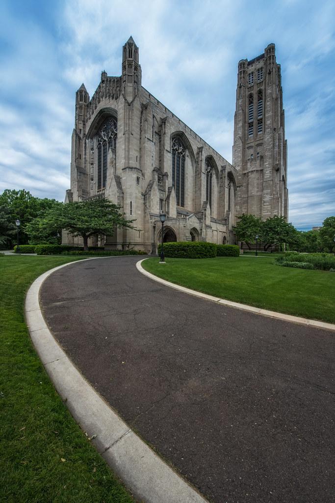 The gathering storm above Rockefeller Chapel