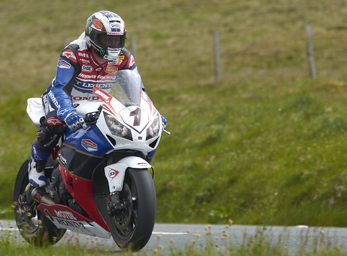 John McGuinness at the Isle of Man Superbike TT 2012