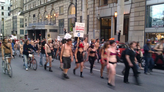 Montreal Naked Protesters at 2012 F1 Grand Prix