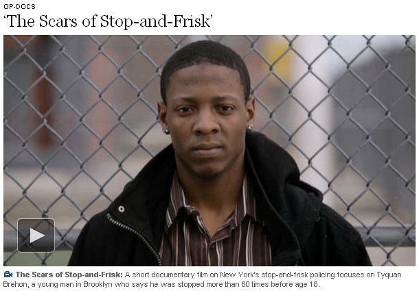 NY Times: The Scars of Stop and Frisk