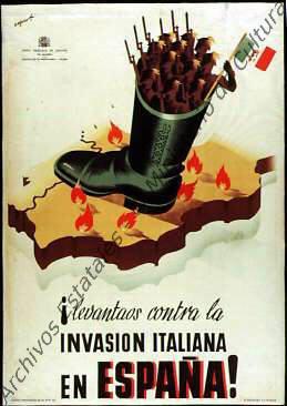 ¡Levántaos contra la invasión italiana de España!