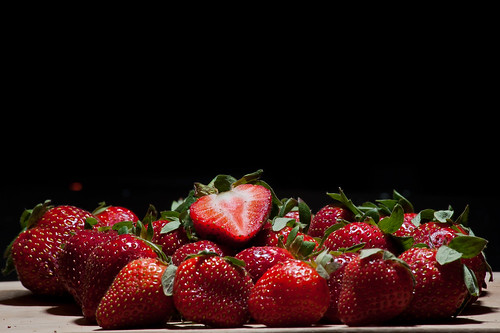 Fresh Cut Strawberries (Explored)