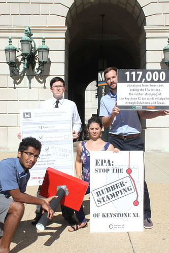 D.C. activists gather in front of the EPA headquarters