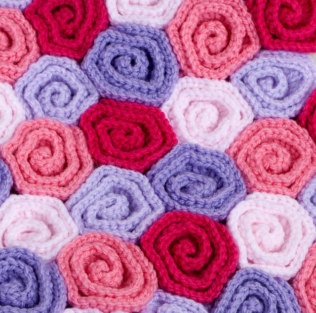 Crochet Baby Blanket Field of Roses Crochet pattern here ...