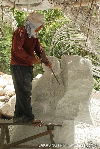Marble Carver in Romblon Island, Romblon