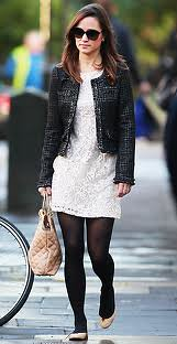 Pippa Middleton Tweed Jacket Celebrity Style Women's Fashion