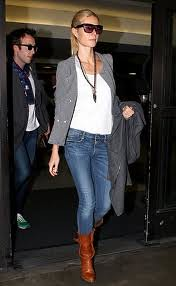 Heidi Klum Tweed Jacket Celebrity Style Women's Fashion