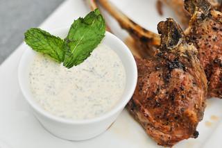 Lamb Chops with Yogurt Mint Sauce