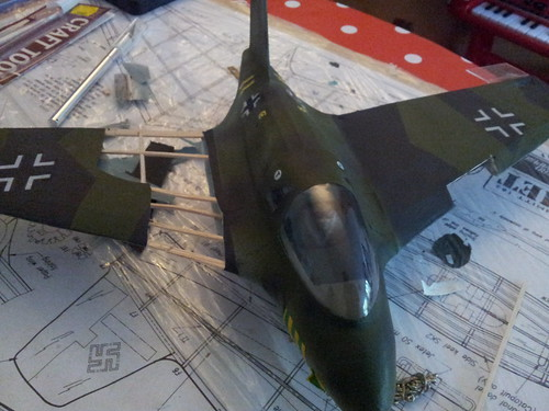 Tissue cut off on me163 wings for repairs