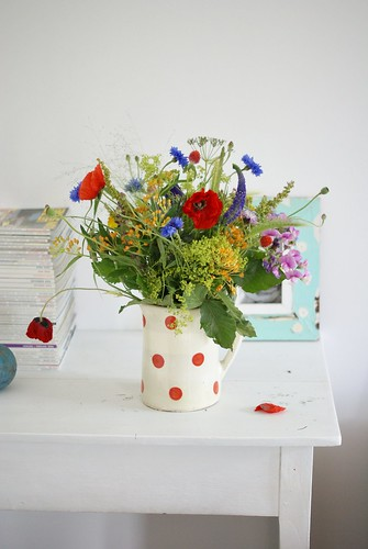 wild flowers spotted in july by wood & wool stool