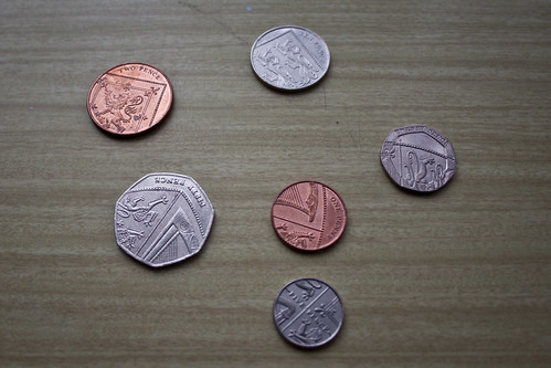 English coins: tails