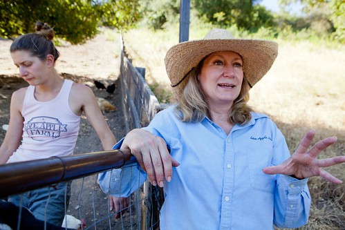 Garden Manager, Sarah and Farm Owner Cynthia Sandberg