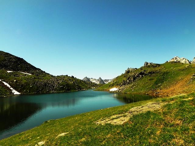 Le lac Long à 2387m d'altitude