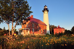 """Wildflowers""  Au Sable Point Lighthouse Pictured Rocks National Lakeshore by Michigan Nut"