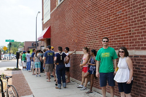 Monday Afternoon Line at Hot Doug's