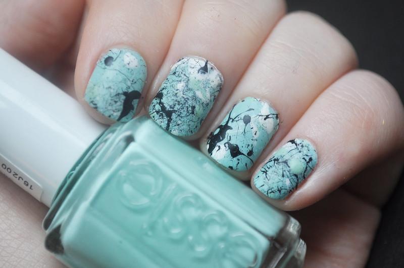 jackson pollock style splatter nails notd nail polish art 1