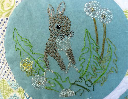 Dandelion Bunny Embroidery (2)