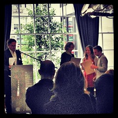 #TheRSA student design winners receiving their awards from @clivegrinyer and Dinah Casson