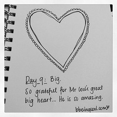 Day 9: Big. Love Mr Cool's great big heart. He is awesome sauce. @espressohead76 #photoadayjuly #bdrawsthings #handdrawn #catchingup