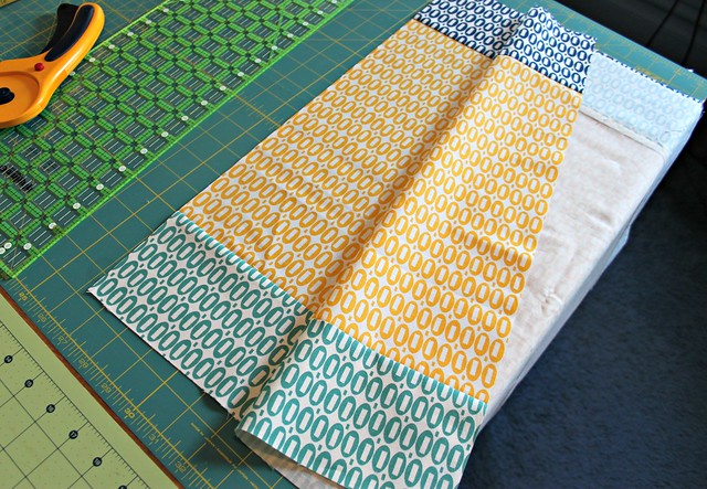 sew skirt fabrics together